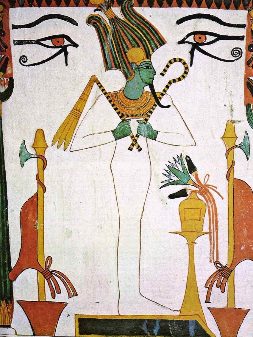 Osiride dio della fertilità sovrano e giudice supremo del mondo dei morti
