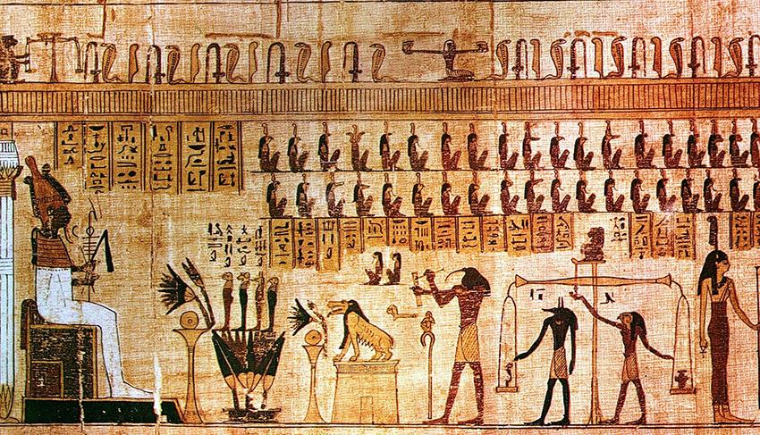 rituali funebri antico Egitto pesatura-del cuore
