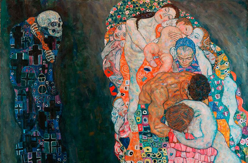 Morte e vita opera pittorica che raffigura la circolarità di vita e morte