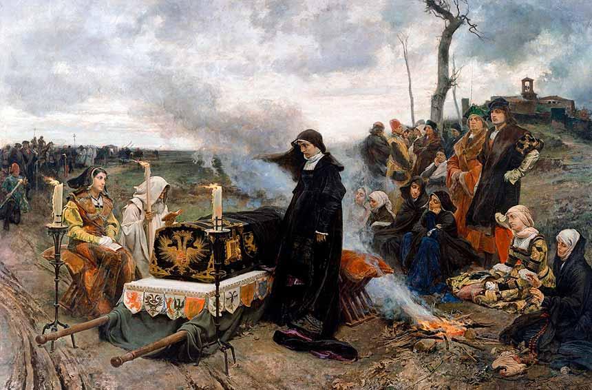 Giovanna la pazza e il singolare funerale del suo consorte Filippo il Bello