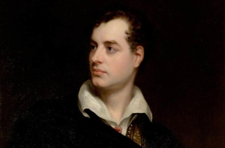 Il poeta Lord Byron e il suo epitaffio in onore di un cane
